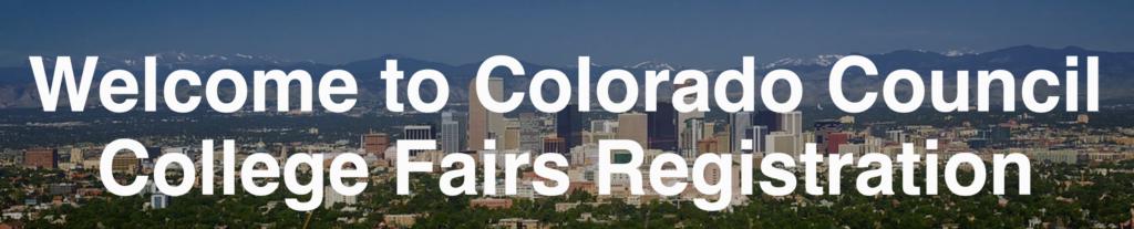 Colorado Council College Fair Registration